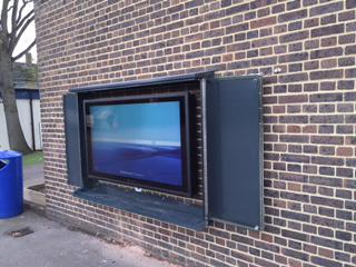 Vandal Proof TV Screen Cabinet