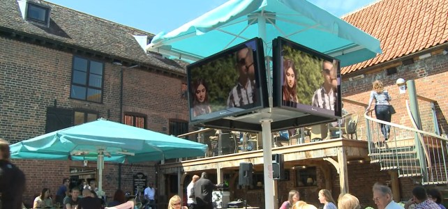 Large Outdoor TV Screens For Pubs & Bars Showing Football Outside