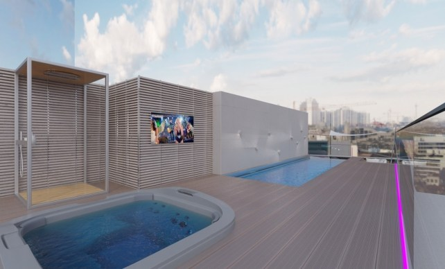 Poolside TV Screens