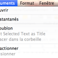 Scrivener dans le monde francophone peu de choses