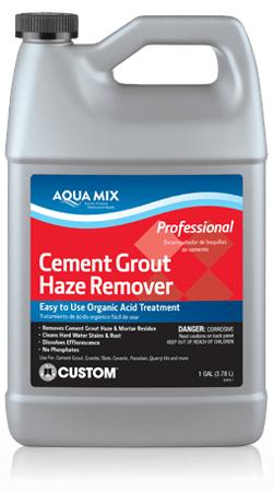 cement grout haze remover aqua mix