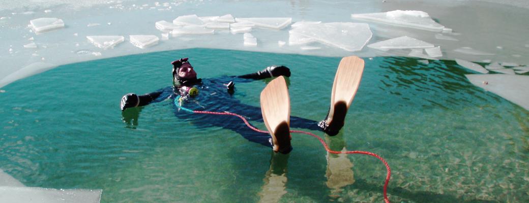 Eistauchen – Weissensee