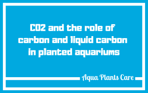 Fertilizer for plants containing an assimilable carbon source, liquid carbon, additionally has an action to combat algae in the aquarium (all kinds but, especially red algae). Aqua Plants Care