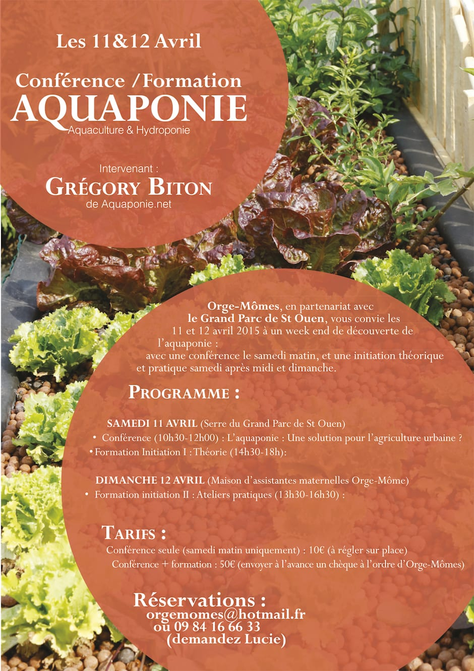 Initiation à l'aquaponie à St Ouen les 11 et 12 avril 2015