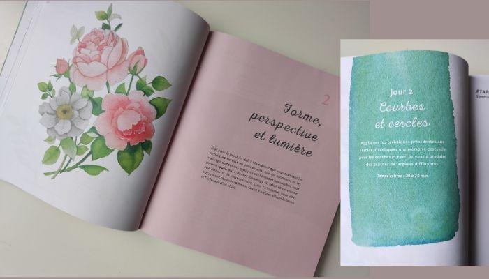 Cliquez-ici pour découvrir mon avis sur le livre de Jenna Rainey, Mon cours d'aquarelle en 30 jours. Ce livre propose d'apprendre l'aquarelle en suivant une progression