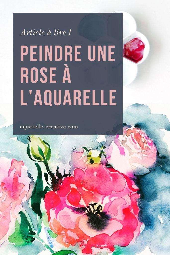 Article complet pour peindre une rose à l'aquarelle d'après photo, à partir d'une rose réelle ou d'imagination.