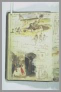 Delacroix Eugène, Croquis divers et notes manuscrites, Album Delacroix Eugène -1-folio 23, dessiné au verso, s.d., encre brune - plume - aquarelle, H. 19,3 cm x L. 12,7 cm © Musée du Louvre, Département des Arts graphiques