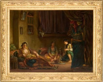Delacroix Eugène, Femmes d'Alger dans leur intérieur, 1849, Huile sur toile, 84 cm x 112 cm., Musée Fabre, Montpellier, don Bruyas 1868, © Musée Fabre - Montpellier Agglomération / cliché F. Jaulmes