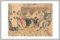 Delacroix Eugène, Homme et femmes dans un intérieur au Maroc, Aquarelle sur traits à la mine de plomb, 23,5 x 31,6 cm, s.d, Département des Arts Graphiques, Musée du Louvre, Paris © RMN - Musée du Louvre, Département des Arts graphiques