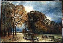 Huet Paul, L'Inondation de Saint-Cloud, 1855, Huile sur toile, H. 203.5, l. 300 cm , Musée du Louvre, Paris © Hervé Lewandowski, Réunion des musées nationaux