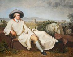 Tischbein Johann Heinrich Wilhelm, Goethe dans la campagne romaine, 1787, huile sur toile, H. 164 x L. 206 cm, Francfort, Städel Museum - Image Wikimedia Commons