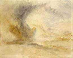 Joseph Mallord William Turner, Foot of the St Gotthard, vers 1840, 480 x 607 mm, Watercolour on paper, Leeds Museums and Galleries (City Art Gallery), UK Turner Worldwide © Leeds Museums and Galleries (City Art Gallery), UK/ courtesy Bridgeman Art Library