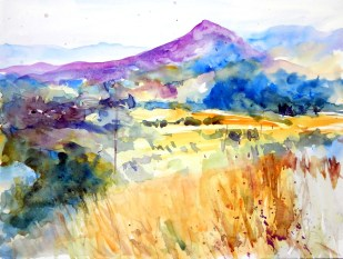 aquarell, watercolor, aquarelle, pass, coll, passstrasse, mountain pass, route de col, berg, mountain, mont, gebirge, mountains, montagne, hügel, hill, colline, toskana, tuskany, toscane, apennin, Passo della Raticosa