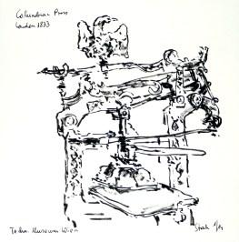 tusche, tuschpinsel, ink, indian ink, encre de Chine, lavis, museum, musée, technik, technical, technique, zusammen zeichnen, columbian press, druckerpresse