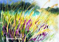 aquarell, watercolor, aquarelle, acquerello, acuarela, wiese, meadow, lawn, grassland, prairie, prato, pradera, gras, grass, herbe, erba, hierba, blumen, flowers, fleurs, Biotop, Guntersdorf, Grund, Weinviertel
