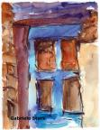 aquarell, watercolor, aquarelle, acquerello, acuarela, detail, dettaglio, detalle, fenster, window, fenêtre, finestra, ventana,