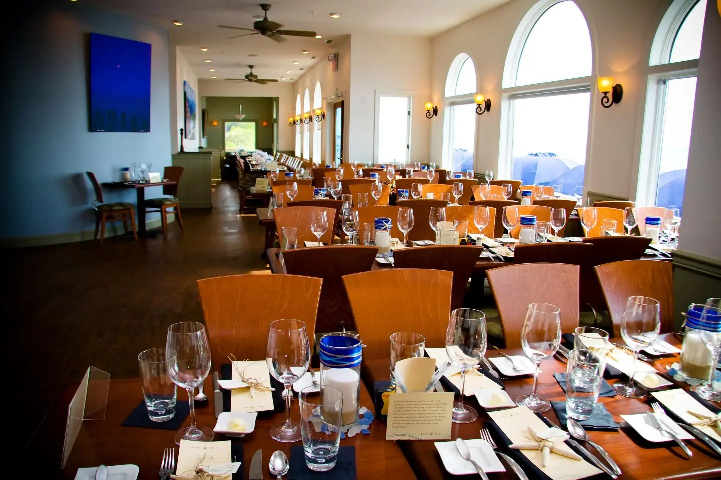 Waterfront Setting for Outer Banks Wedding Receptions at AQUA Restaurant