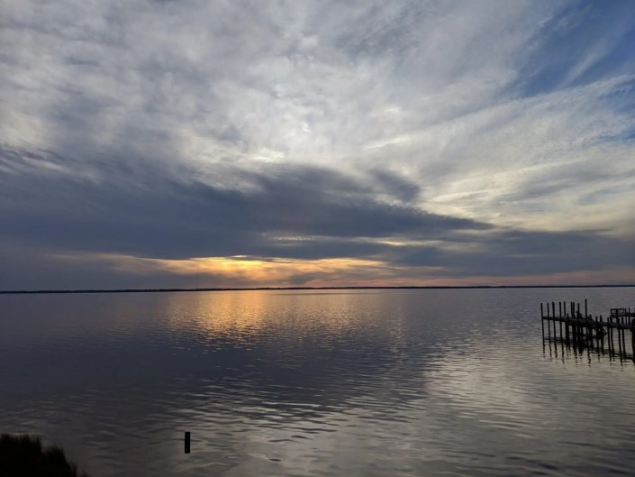 A beautiful AQUA sunset
