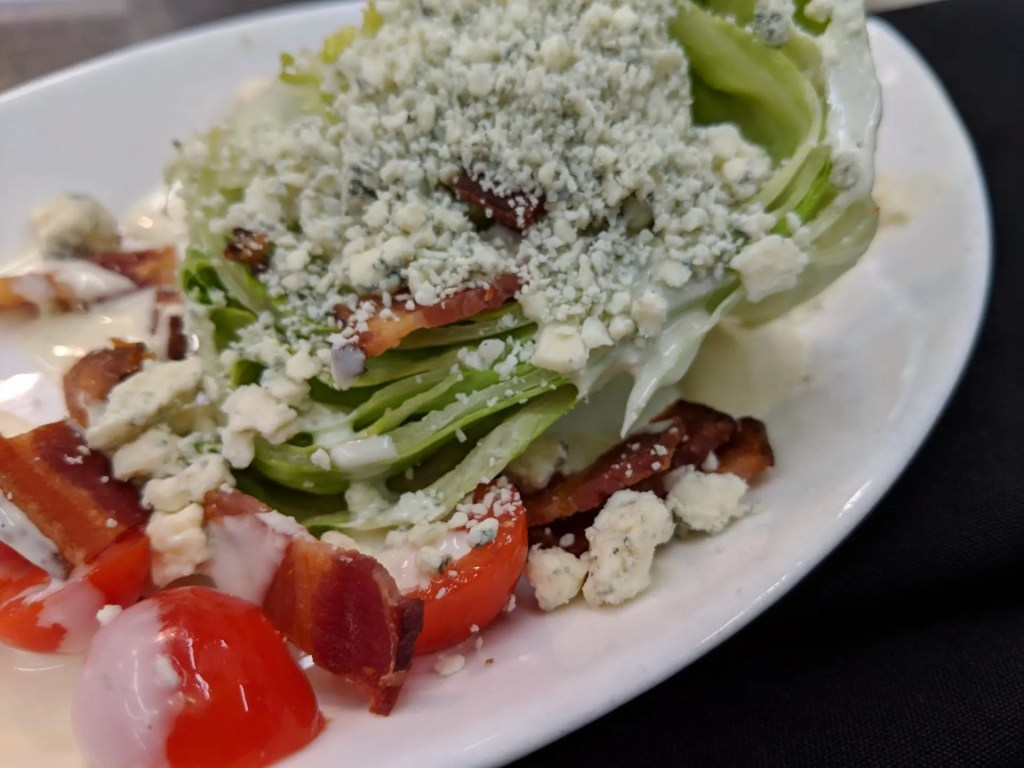 Wedge Salad Fall Menu 2018 at AQUA Restaurant