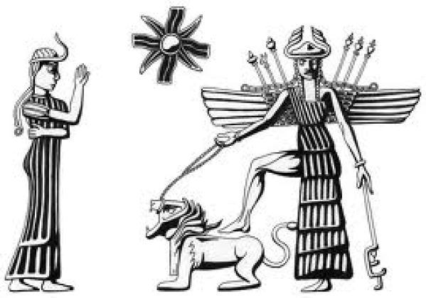 Ereshkigal With Inanna
