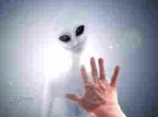 Alien with hand