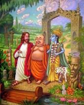Jesus Buddah & Krishna large