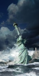Statue-of-Liberty-hit-by-tsunami-end-of-the-world-Ron-Miller