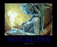 Blue Aliens poster4182