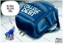 global Economic-crisis CARTOON COLLEGE DEBT