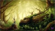 Dragon & Woman Green