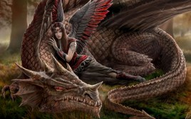 Woman with Brown Dragon