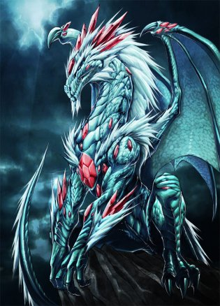 white_dragon_with_jewels_by_cherrera_ilustrador-d1k95xp