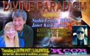 Russell-Scott-Brinegar-Overlords-Of-The-Singularity-Divine-Paradigm-Dr-Sasha-Lessin-Janet-Kira-Lessin-KCOR-Digital-Radio-Network-Flyer
