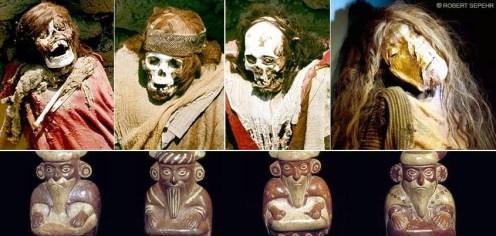 01 Men Red Hair Mummies Peru