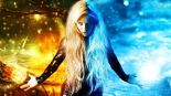 Spiritual Walk-in-17871-woman-out-of-fire-and-ice-1366x768-digital-art-wallpaper