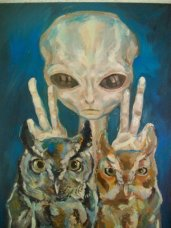 Grey aliens with owls 31da3efd3cf2f890dbdc3693e1a360bfd6ec3fb3_m