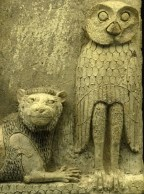 Inanna's owl Burney_Relief_owl_and_lion