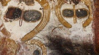 aboriginal owls on rocks 3