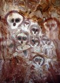 aboriginal owls on rocks 9