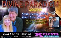 Scott-and-Melanie-McClure-Ecstatic-Hearts-Tantra-Divine-Paradigm-Dr-Sasha-Lessin-Janet-Kira-Lessin-KCOR-Digital-Radio-Network-Flyer
