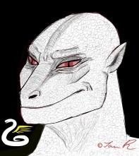 Tall White Reptilian Aliens draco-smirk-ian-r