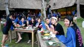 Snacking after rafting