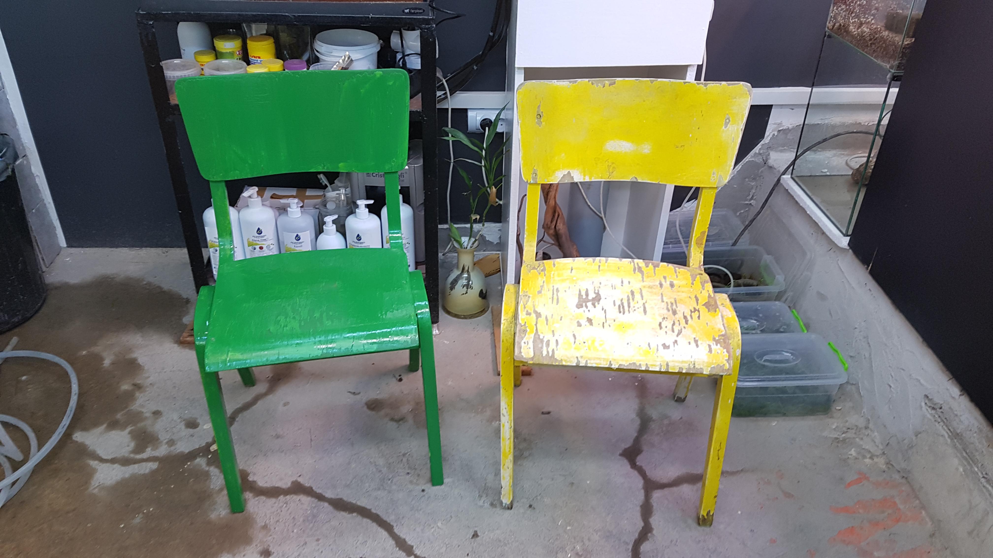Реставрация на столове в Акваскейп Галерията