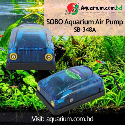 Aquarium Double Head Air Pump SOBO SB-348A