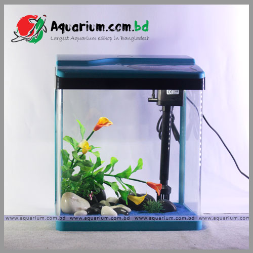 blue-tank-main SOBO Small Fish Aquarium(Blue)
