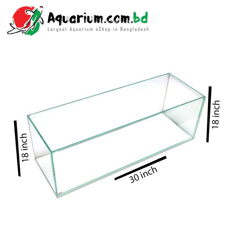 150 Ltr. 30x18x18 Crystal Glass Aquarium - Glass Thickness 8mm