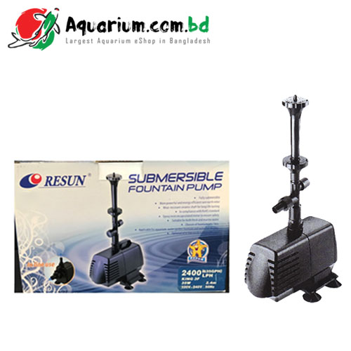 Resun Submersible Fountain Pump(KING3F- 35W, 2400L/H)