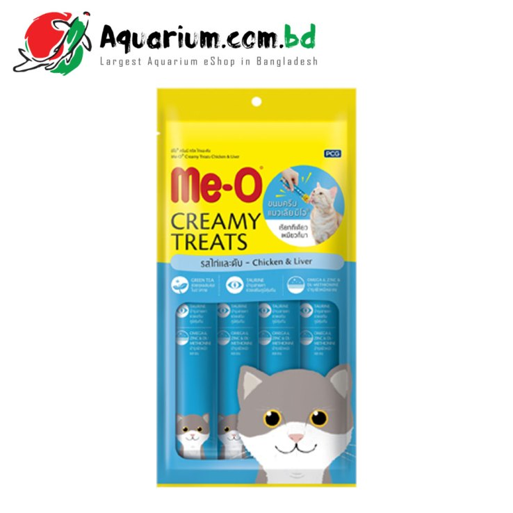 Me-O® Creamy Treats Chicken & Liver- 15 G*4 Sachets
