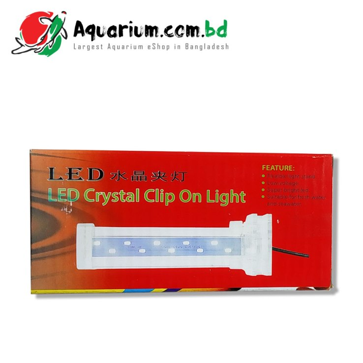 LED Crystal Clip on Light