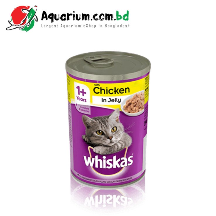 WHISKAS® 1+ Can with Chicken in Jelly 390g